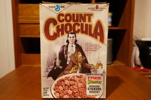 Rare Recalled 1987 Count Chocula Cereal Box, Bela Lugosi, Star of David
