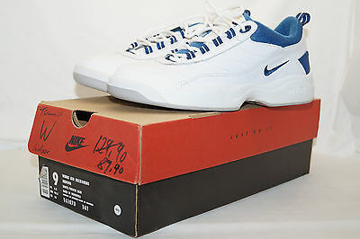 NIKE WMNS AIR RECKONING INDOOR TENNIS 1998 Gr.40 weiss blau 140678 141 incl BOX