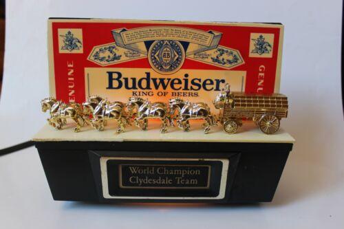 Budweiser World Champion Clydesdale Team Advertising Light Vintage Bar Sign