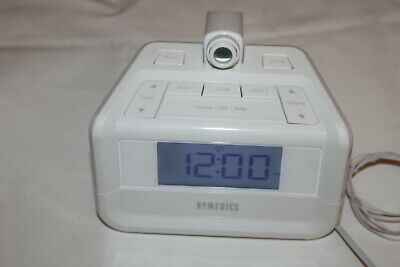Homedics Soundspa Projection Digital FM Clock Dual Alarm Radio -