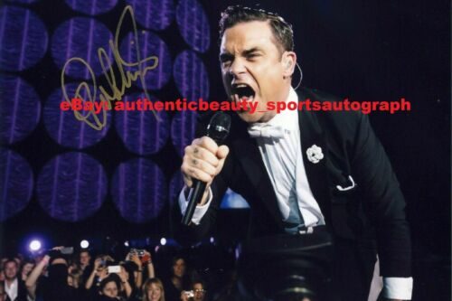 ROBBIE WILLIAMS TAKE THAT ROCK SEXY AUTO SIGNED 12x18 POSTER PHOTO REPRINT RP