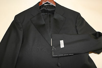 #108 CANALI Two Button Travel Wool & Mohair Tuxedo Size 44 R   for sale  USA