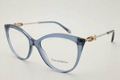 New Authentic Tiffany & Co. Women Eyeglasses TF 2161B 8242 Crystal Blue (Tiffany Eyeglass Frames For Women)