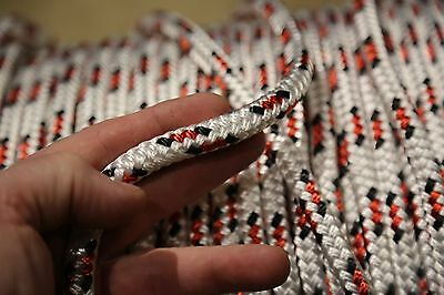 """100 feet NEW 7/16"""" Double Braid Rope 6300Lbs BREAKING STRENGTH NEW 2018 Stock"""