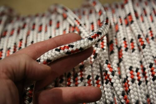 """100 feet NEW 7/16"""" Double Braid Rope 6300Lbs BREAKING STRENGTH NEW 2020 Stock"""