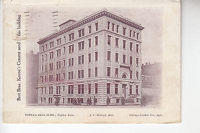 Sepia Topeka Bank Building Topeka KS Kans