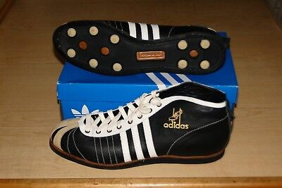 Rare Adidas Football Black & White Leather Soccer 54 Superstar Shoe Size 14