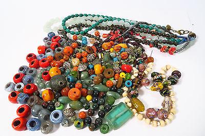 Lot Glasperlen 685gr. Konvolut Indien India Beads Afrozip