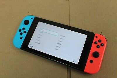 Nintendo Switch Console Neon Blue/Red Joy-Con - Bare - Well Used - Read Desc.!