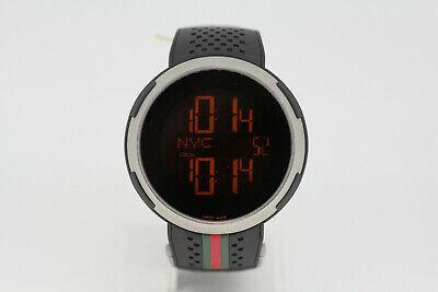 Gucci 114.1 Sport Digital Men's Black Rubber Strap Wristwatch I-Gucci