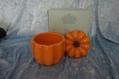PartyLite P9971 Kerzenhalter Keramik Kürbis Halloween orange im OrK