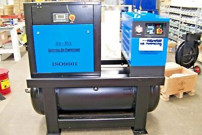 Air-max 10hp. Rotary Screw Air Compressor Dryerfilters120t 12 Year Warranty