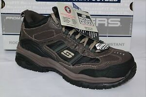 SKECHERS WORK COMPOSITE SAFETY TOE MEN SHOE, SOFT STRIDE CANOPY,77027/BRBK, available at Ebay for Rs.9951
