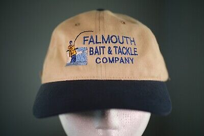 Vintage Falmouth Bait And Tackle Fishing Hat Cap 80s Fisherman Strapback