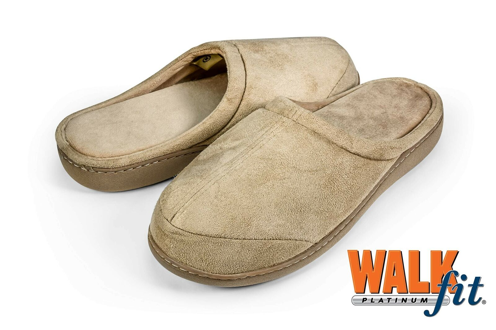 WalkFit Platinum Total Comfort Slippers Women's or Men's House Shoes Memory F... 1