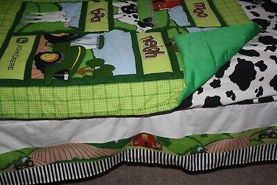 Farm animals john deere Crib Bedding ()