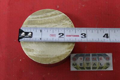 2-12 C360 Brass Round Rod 3 Long Solid H02 Lathe Bar Stock 2.50 Diameter