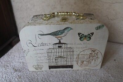 TRI COASTAL DESIGN 2011 KATHRYN WHITE STORAGE BOX, PURSE, ETC. BIRD CAGE DESIGN