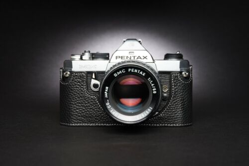 Genuine Real Leather Half Camera Case Bag Cover for Pentax K2 LX MX SUPER A