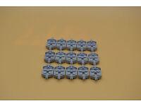 handle 48336 LEGO 40 x Platten 1x2 mit Griff neuhell grau newlight grey plate w