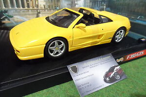 ferrari f355 gts 1994 cabriolet jaune au 1 18 hot wheels 23921 voiture miniature ebay. Black Bedroom Furniture Sets. Home Design Ideas
