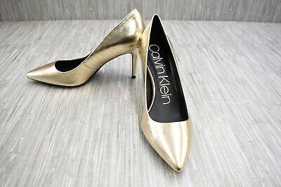 Calvin Klein Gayle 34E5502-SRV Heels, Women's Size 8.5, Gold NEW