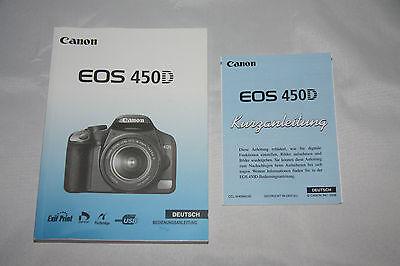Bedienungsanleitung + Kurzanleitung EOS 450D original von Canon