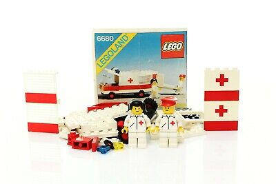 Lego Classic Town Hospital Set 6680 Ambulance 100% complete + instructions 1981
