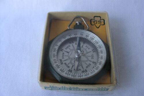 Vintage Taylor Official Girl Scout Compass No. 11-358 W/Instructions & Box Nice!