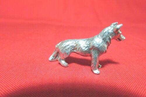 Pewter German Shepherd Dog Figurine