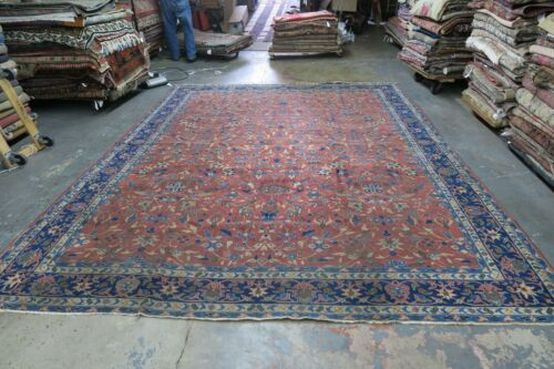 Antique India Larestan Area Oriental Rug Hand Knotted Wool 10