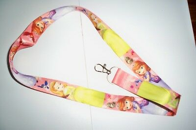 Cartoon sofia princess Straps Lanyard ID Badge Holders Mobile Neck Key chainl-28
