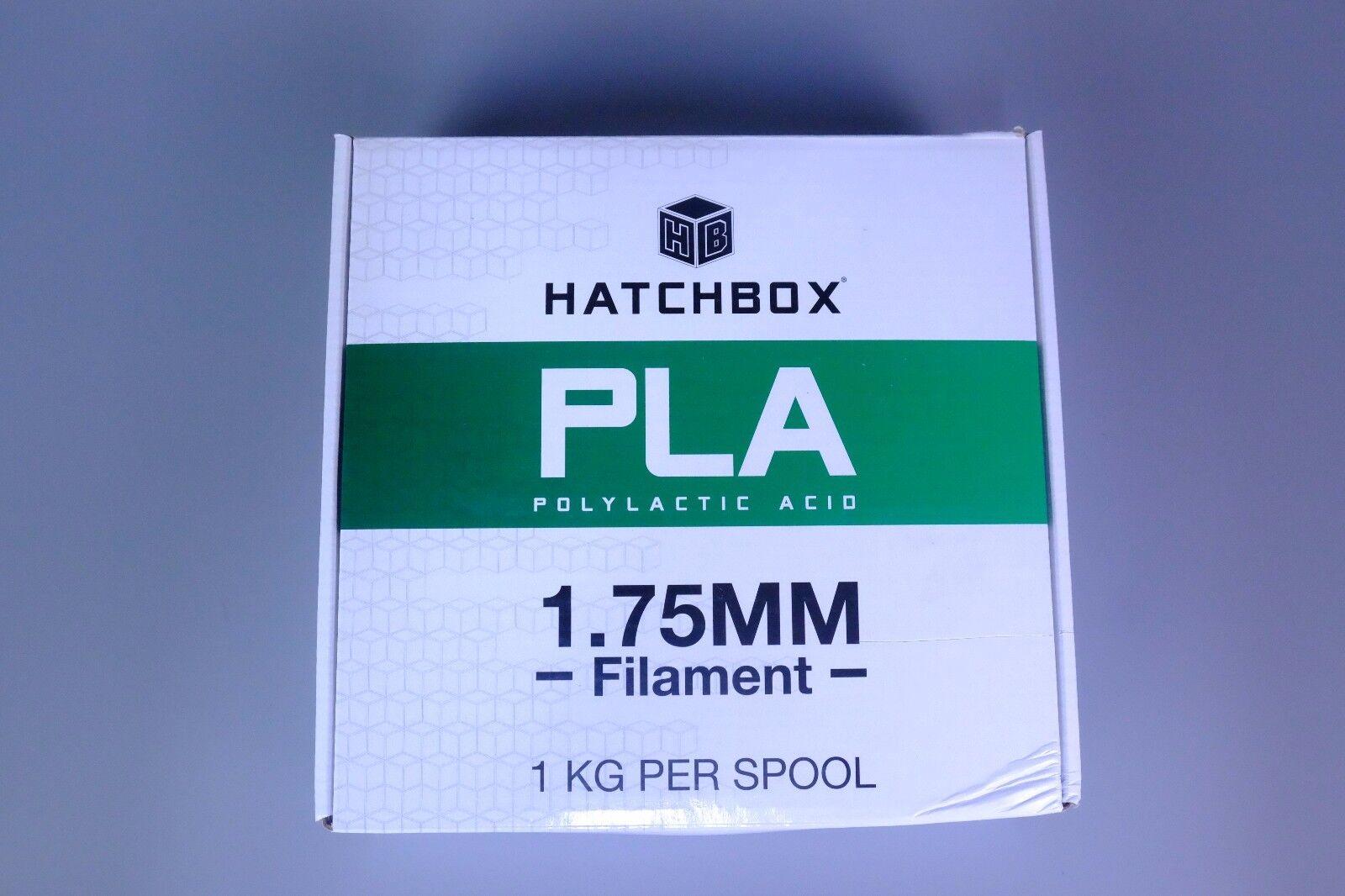 1 kg Spool 1.75 mm HATCHBOX Performance PLA 3D Printer Filament Green 3D PPLA-1KG1.75-GRN Dimensional Accuracy +//- 0.03 mm
