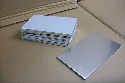 10 Pc Lot Aluminum Sheet 5052-h32 .125 18 2 X 2 Clean Strong Durable