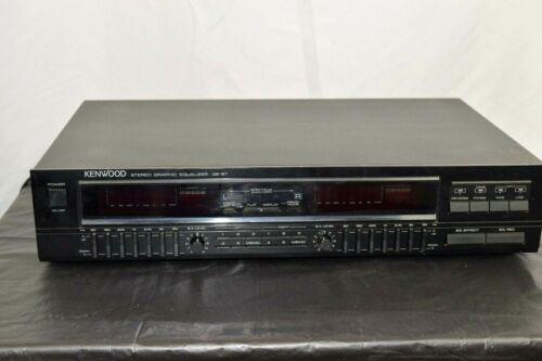 Vintage KENWOOD Stereo Graphic Equalizer, GE-87 - Dual L/R Spectrum Analyzer