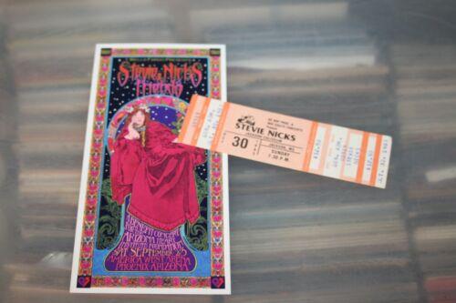 Stevie Nicks -  Concert Ticket 1983 + Flyer  ## FREE POSTAGE ##  Fleetwood Mac
