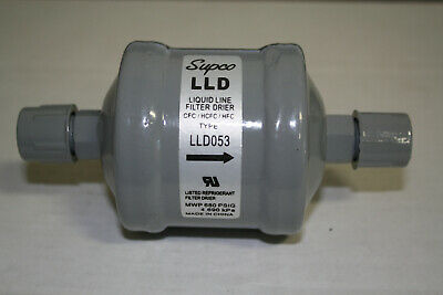Refrigeration Liquid Line Filter Drier 38 Flare Fittings 5 Cu.in.