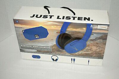 - Altec Lansing Bluetooth Audio Sound Kit-BLUE w/Mini H20 speaker/Headphones -NEW
