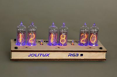 JOLITUX RGB Nixie Clock IN-14 russian Tubes Tube Clock with remote control led