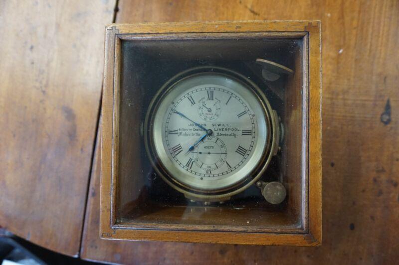 Antique Joseph Sewill Marine Chronometer