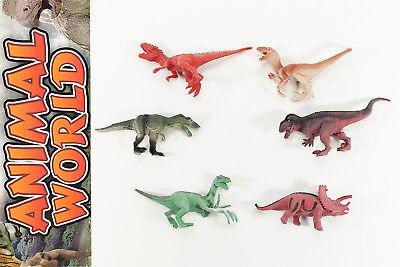 6 teiliges - Dinosaurier Figuren SCH Set Dino Raptor Dinosauria Kunststoff