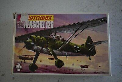 Matchbox 1/72 Henschel HS/126 Kit No PK26