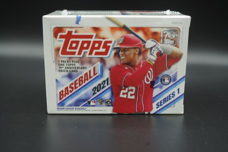 2021 Topps Baseball Series 1 SEALED BLASTER BOX 7 Packs RC Patch MORE! FREE S&H!
