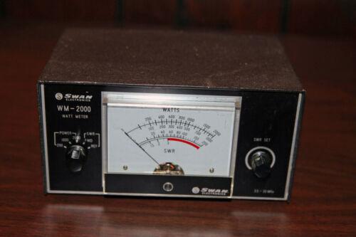 Swan WM-2000 wattmeter SWR meter