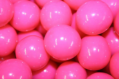GUMBALLS PINK 25mm or 1 inch (57 count), 1LB (Pink Gum Balls)