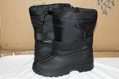 Brand New Boys Snow Boots Winter Black Size 11-2, -