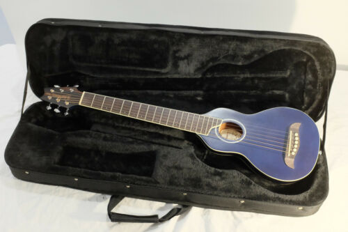 Washburn Rover Travel Acoustic Guitar - R010, Transparent Blue, with case