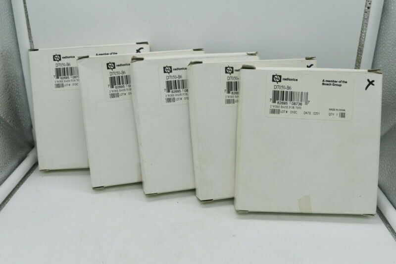 Lot of 5 Radionics D7050-B6 Detector Base