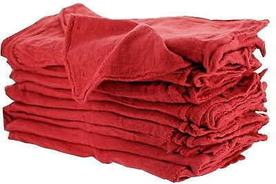 100 Industrial Shop Rags Cleaning Towels Red