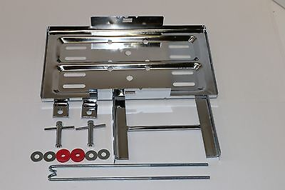 Stainless Steel Universal Battery Tray Holder Hold Down Kit Street Hot Rod -